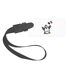 France Penguin Luggage Tag
