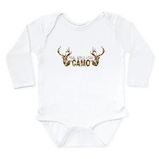 REAL GIRLS WEAR CAMO Long Sleeve Infant Bodysuit
