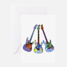 Wild Guitar Greeting Card
