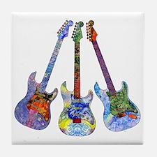 Wild Guitar Tile Coaster