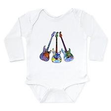 Wild Guitar Long Sleeve Infant Bodysuit