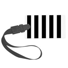 Black and White Striped Luggage Tag