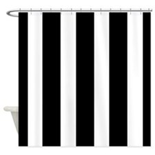 Striking Black and White stripe Shower Curtain