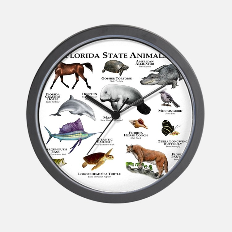 Florida State Animals Wall Clock