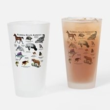 Florida State Animals Drinking Glass