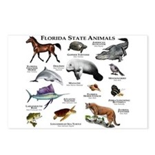 Florida State Animals Postcards (Package of 8)