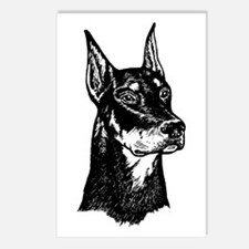 DOBERMAN HEAD Postcards (Package of 8)