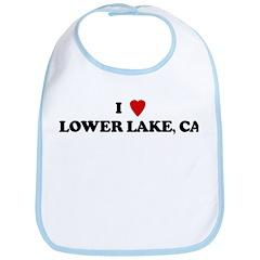 I Love LOWER LAKE Bib
