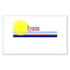 Iyana Rectangle Decal
