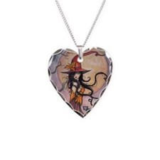Autumn Magic Necklace Heart Charm