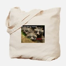 Anti-Fur Raccoon Dog pups Tote Bag