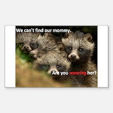 Anti-Fur Raccoon Dog pups Decal