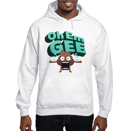 Emoji Poop Oh Em Gee Hooded Sweatshirt