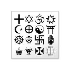 """Coexist Square Sticker 3"""" X 3"""""""