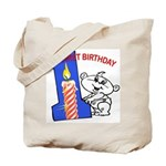 1st Birthday Tote Bag