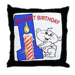 1st Birthday Throw Pillow