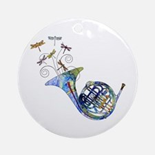 Wild French Horn Ornament (Round)