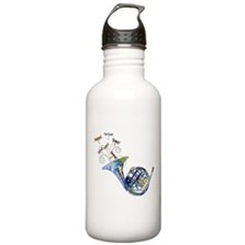 Wild French Horn Sports Water Bottle