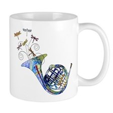 Wild French Horn Small Mugs