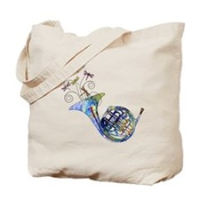Wild French Horn Tote Bag