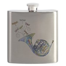 Wild French Horn Flask