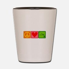 Peace Love Hawaii Shot Glass