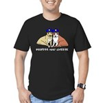 Boofuss and Cheese Men's Fitted T-Shirt (dark)
