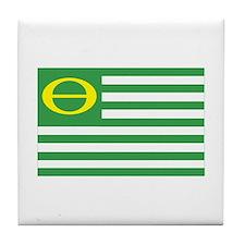 Ecology Flag Tile Coaster