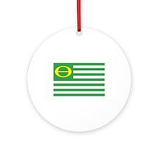 Ecology Flag Ornament (Round)