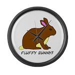 Fluffy Bunny? Large Wall Clock