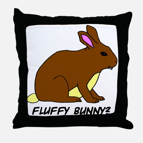 Fluffy Bunny? Throw Pillow