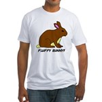 Fluffy Bunny? Fitted T-Shirt