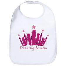 Dancing Queen Crown Bib