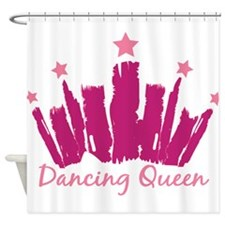Dancing Queen Crown Shower Curtain