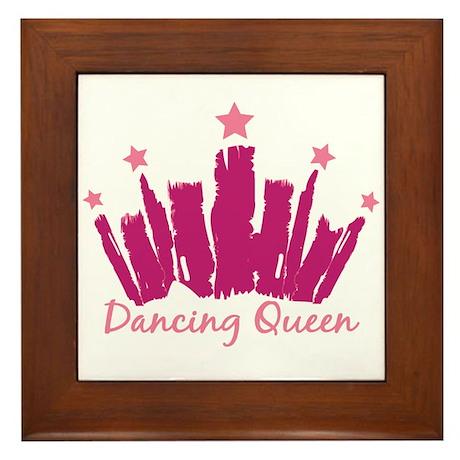 Dancing Queen Crown Framed Tile