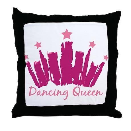 Dancing Queen Crown Throw Pillow