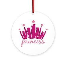 Princess Crown Ornament (Round)