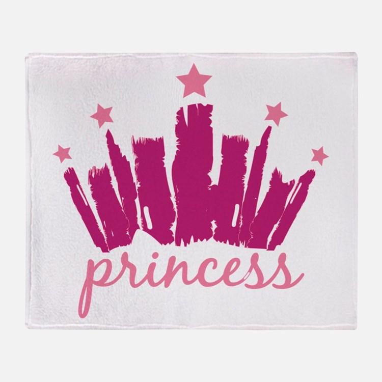 Princess Crown Throw Blanket