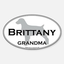 Brittany GRANDMA Oval Decal