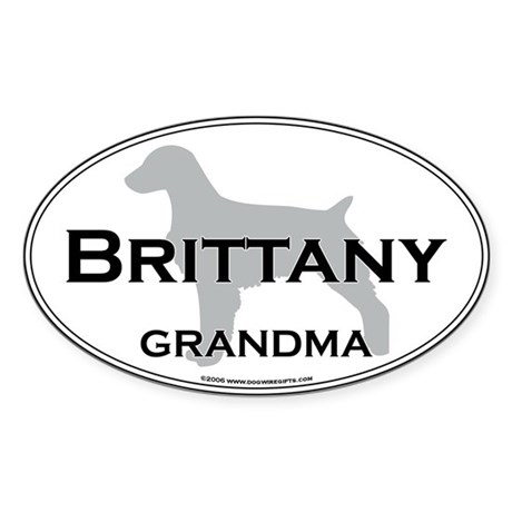 Brittany GRANDMA Oval Sticker