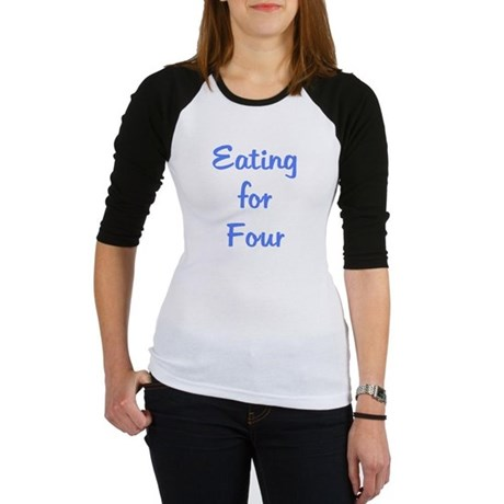 Eating for Four - Blue Jr. Raglan