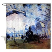 Monet Station Saint Lazare in Paris Shower Curtain