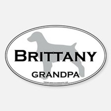 Brittany GRANDPA Oval Decal