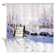 Claude Monet The Magpie Shower Curtain