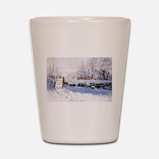 Claude Monet The Magpie Shot Glass