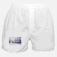 Claude Monet The Magpie Boxer Shorts