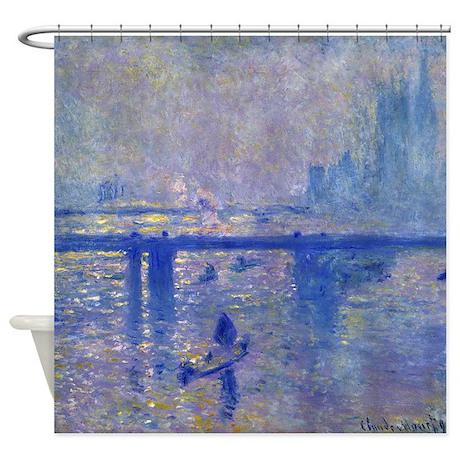 Claude Monet Charing Cross Bridge Shower Curtain