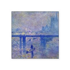 Claude Monet Charing Cross Bridge Square Sticker 3