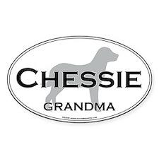 Chessie GRANDMA Oval Decal