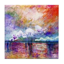 Claude Monet Charing Cross Bridge Tile Coaster